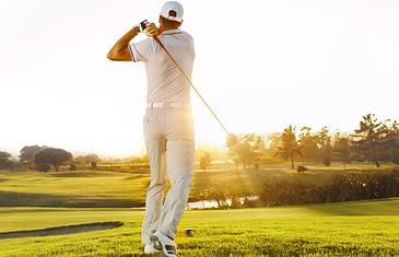 bao hiem nguoi choi golf icon